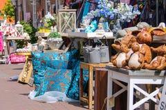 Row of small souvenir shops on the street Kerkstraat Stock Image