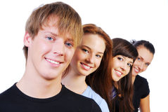 Row of  smiling face Royalty Free Stock Photography