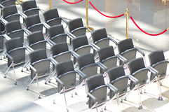 row sof guest seats Stock Photo