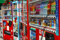 Row of Soft drink Vending Machine Stock Images