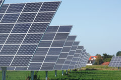 Row of solar panels Stock Images