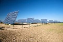 Row of solar panels Royalty Free Stock Images