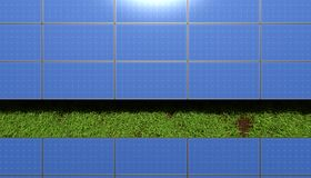 Solar panels over grass Stock Photography