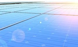 Solar panels in sunlight. Row of solar panels in bright sunlight royalty free illustration