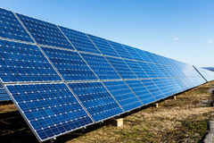 Row of solar panels Stock Photography