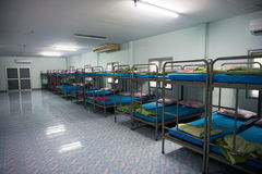 A row soldier bunk beds. Royalty Free Stock Image