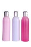 Row of spa moisturizers Stock Photography