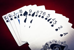 Row of spades Royalty Free Stock Image