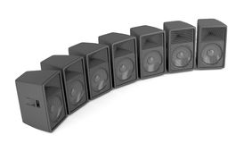 Row of speakers Royalty Free Stock Photography