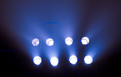 Row of stage lights Royalty Free Stock Photos