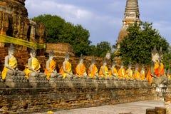 Row statue follower of buddha Royalty Free Stock Photo
