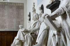 Row of Statues Inside Trinity College Chapel Royalty Free Stock Photos