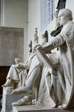 Row of Statues Inside Trinity College Chapel Stock Image