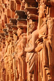 Row of statues no.2. Statues at the arcades of the castle Schallaburg in lower Austria Royalty Free Stock Photography