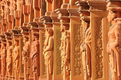 Row of statues no.3. Statues at the arcades of the castle Schallaburg in lower Austria Stock Image