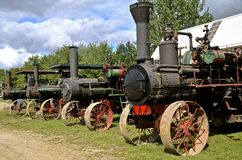 Row of steam engines Royalty Free Stock Image