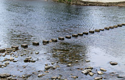 Row of Stepping Stones. Royalty Free Stock Photography