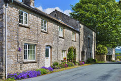 Row of stone cottages Stock Images