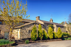 Row of stone cottages in Wycoller Stock Photos