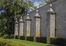 Row of stone pillars Royalty Free Stock Photo