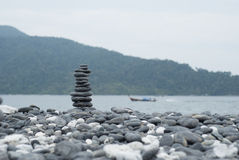 Row of stone. Put the twelve stone in a row or column Stock Photography