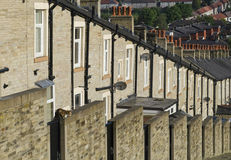 Row Stone and Slate Terraced Houses Lancashire Royalty Free Stock Image