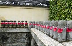 Row of stone statues. At Tenryuji temple in Kyoto, Japan Stock Photo