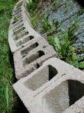 Row of Stones Patio Bricks Royalty Free Stock Photography