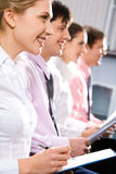 Row of students Royalty Free Stock Image