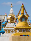 Row of stupa in Gandan monastery Royalty Free Stock Photography