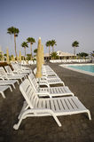 Row of sunbeds Royalty Free Stock Photo