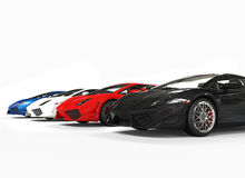 Row Of Supercars Stock Photography