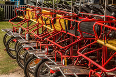 Row of Surrey Bikes Royalty Free Stock Photos