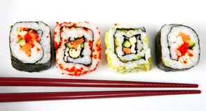 Row of sushi Stock Photo