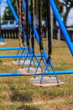 Row of swing Royalty Free Stock Image