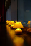 Row of table lamps Royalty Free Stock Image