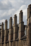 Row of tall chimneys Royalty Free Stock Photos