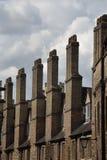 Row of tall chimneys Royalty Free Stock Photos