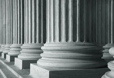 Row of tall pillars Stock Photography