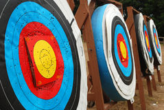 Row of Targets Royalty Free Stock Image