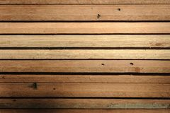 Row of  teak wood in warehouse. Stock Images