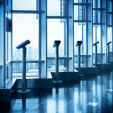 A row of telescope Royalty Free Stock Photography