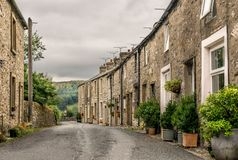 A row of terraced houses or cottages. royalty free stock images