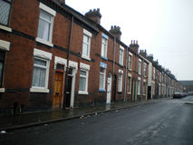 Row of Terraced Houses Stock Photography