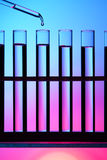 Row of test tube Royalty Free Stock Photo