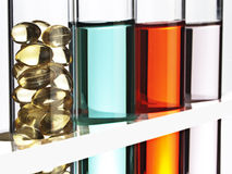 Row of test tubes Royalty Free Stock Image