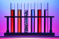 Row of test tubes Stock Photography