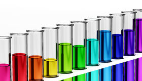 Row of test tubes Stock Image