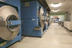 Row of textile dyeing machines Royalty Free Stock Photo