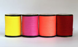 Row of thread in spool Stock Image